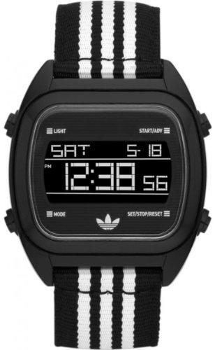 Adidas Unisex Sydney ADH2731 Black Nylon Quartz Watch with Black Dial