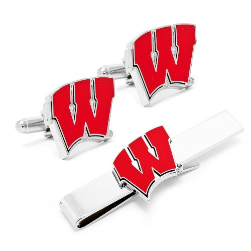 University Of Wisconsin Badgers Cufflinks And Tie Bar Gift S