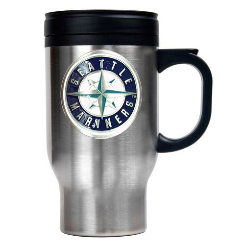 MLB Seattle Mariners Stainless Steel Travel Mug (Primary Logo) at Amazon.com