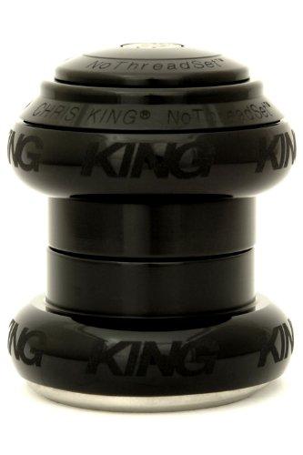 """King Nothreadset 1 1/8"""" Black Sotto Voce"""