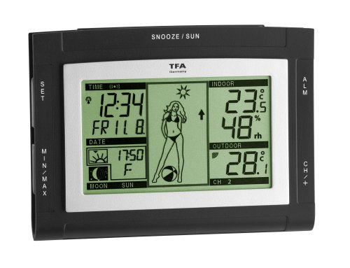 TFA 35.1064.01.51 Weather Girl XS Radio Controlled Weather Station