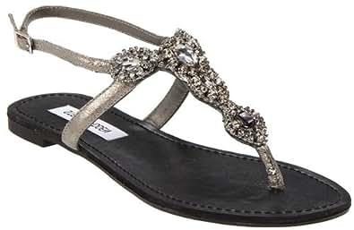 Steve Madden Women's Glaare Sandals,Gray,5 M