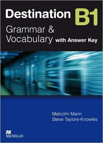 Destination Grammar B1: Student's Book with Key