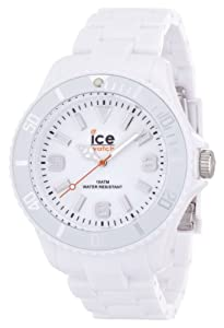 ICE-Watch - Montre Mixte - Quartz Analogique - Ice-Solid - White - Big - Cadran Blanc - Bracelet Plastique Blanc - SD.WE.B.P.12