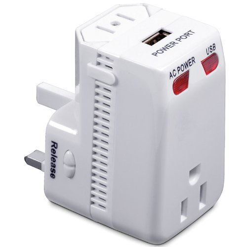 International Plug Adapter  USB (White) (5