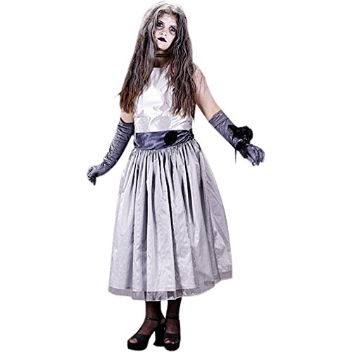 Girl's Teen Prom Zombie Halloween Costume (Sz: 9)