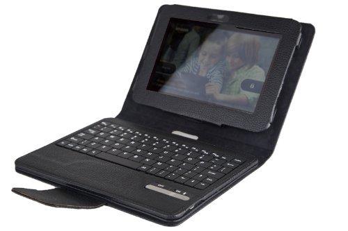 アマゾン7インチAmazon Kindle Fire 2 Tablet用分離可能な着脱式ワイヤレスBluetoothキーボードPUレザーケースカバー