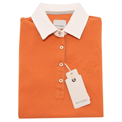 3111O polo HENRY COTTON'S arancione maglie donna t-shirt women [42]