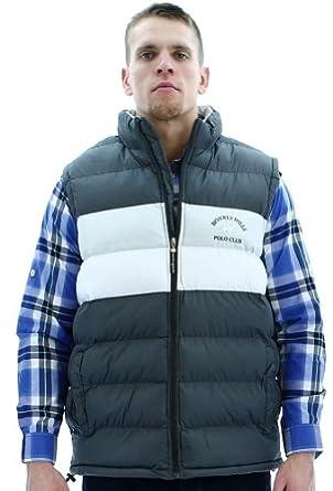 Beverly Hills Polo Club Men's Puffer Vest Faux Down Rip Stop Bubble Size L