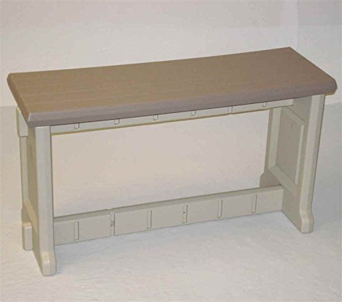 Leisure Accents Patio Bench Taupe Beige 36 Inches Long By 20 Inches High Furniture Tables Tables