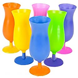 6 Hurricane TUMBLERS party cup glasses