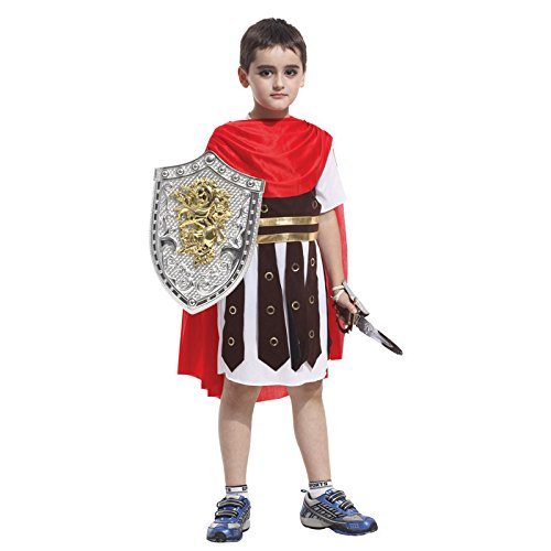 Kids Roman Gladiator Soldier Boys Halloween Costume