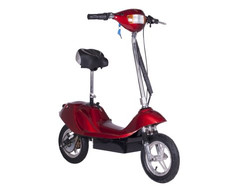 X-Treme Electric X-370 Battery Powered Electric Scooter (Burgundy)
