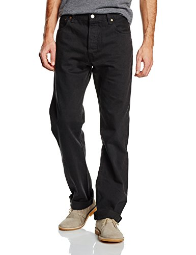 Levi's - Jeans 501, Uomo, (Schwarz (Black)), 50 IT (36W/30L)