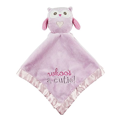 Plush Owl Blankie, Pink-Stepping Stones - 1