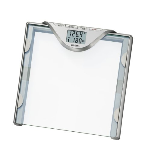 Image of Taylor # 5598 Glass Body Fat Scale with Invisible Electrodes (5598-4192)
