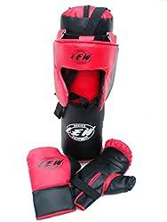 LEW Kid's Boxing Set- Kids (Punching Bag, Gloves & Headgear)