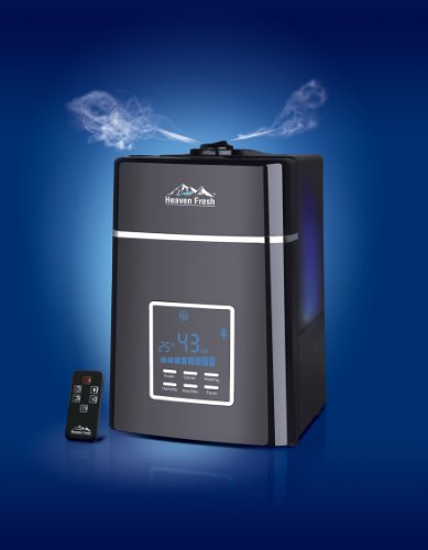 Heaven Fresh HF 707 Digital Ultrasonic Cool & Warm Mist HUMIDIFIER with NEGATIVE IONS and Remote Control Unit
