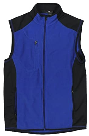 RLX Ralph Lauren Golf Mens Microfleece Full Zip Vest (Sapphire Star Blue) (Small) by RALPH LAUREN