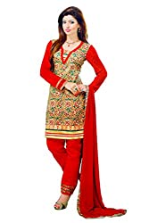 Pehnawa Fashion Women Camric_cotton Unstitched Dress Material (Mehroon)