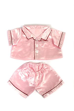 Pink Satin PJ's Clothes Outfit Fit 14