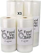 Twelve Rolls - 6 11quot X 5039 and 6 8quot X 5039 Roll Commercial Vacuum Sealer Bags Food Storage