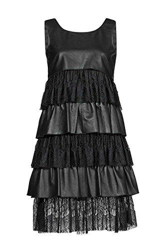 Unbekannt APART Fashion, Lederkleid, schwarz, Gr. 40