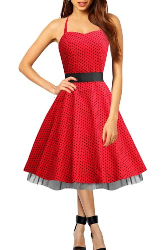 Polka Dot 1950′s Style Rockabilly Dress