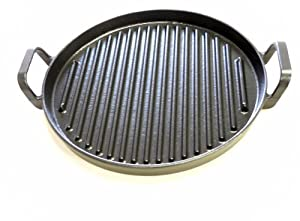 "12"" Non-stick Ceramic Cast Iron Grill Pan"
