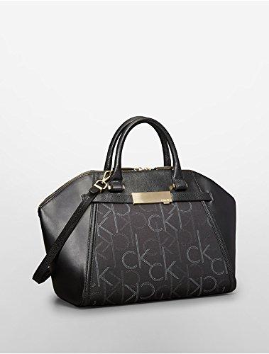 Calvin KleinCalvin Klein Addie City Dome Satchel Bag (Black)