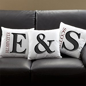 Custom Monogram Pillows