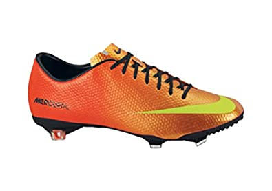 Nike Men's Mercurial Vapor IX FG Soccer Shoe,Sunset/Total Crimson/Volt,7 D US
