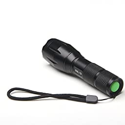 SUNYOU Latest Zoomable 5 Mode 2000 Lumen UltraFire T6 LED Flashlight Torch for Hiking