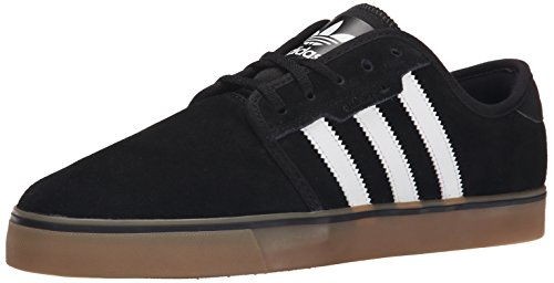Adidas Originals Men's Seeley Lace Up Shoe,  Black/Running White/Gum, 9.5 M US