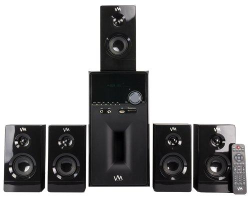 Vm Audio Exms581W 1000W 5.1 Home Multi Media Surround Sound Speakers System Usb