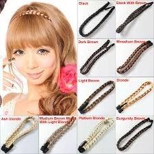 Boolavard ® TM Haarschmuck Elastizität Serratula Weave Perücke mit Zopf Kopfschmuck Haargummis 10 Farben (blonde Platinum)