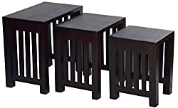 Mubell Polo Nest Of Stools - Set of 3, XL Size Nest - Largest Stool is 22