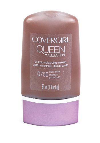 CoverGirl Queen Collection Liquid Makeup Foundation, Rich Mink 750, 1.0-Ounce Bottles (Pack of 2)