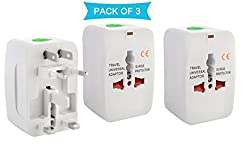 Universal World Wide Travel Charger Adapter Plug Combo / Pack Of 3 Pcs