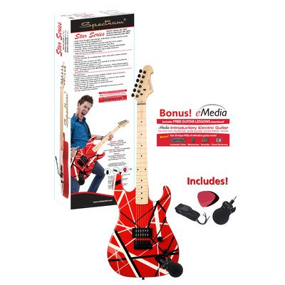Spectrum Star Series AIL 58FS Solid Body Full Size Straight Line Design Electric Guitar - Red and Black