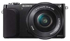 Sony NEX-3N Fotocamera Mirrorless, 16.1 Megapixel, Zoom Motorizzato, Obiettivo 16-50 mm, Nera