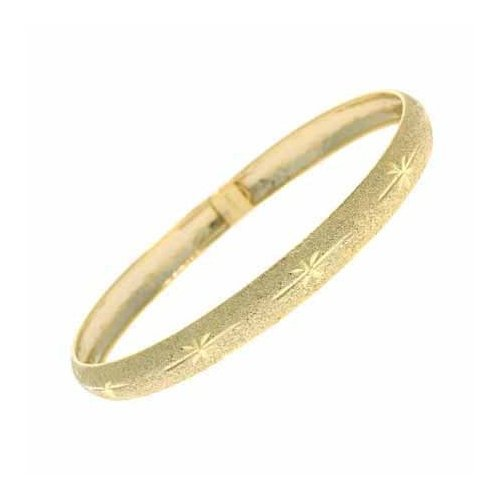 Vermeil (24k Gold over Sterling Silver) Etched Sparkle Satin Bangle