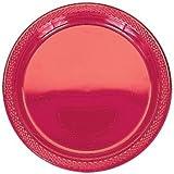 Amscan International 22.8cm Plastic Plate (Apple Red)