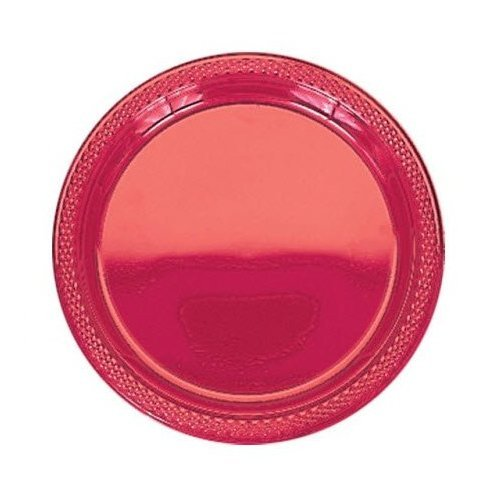 "Red 9"""" Plastic Plates"