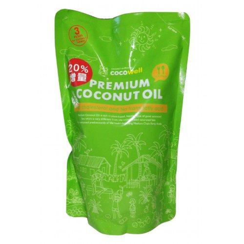プレミアムココナッツオイル 500ml 天然の中性脂肪酸が豊富なクッキングオイル