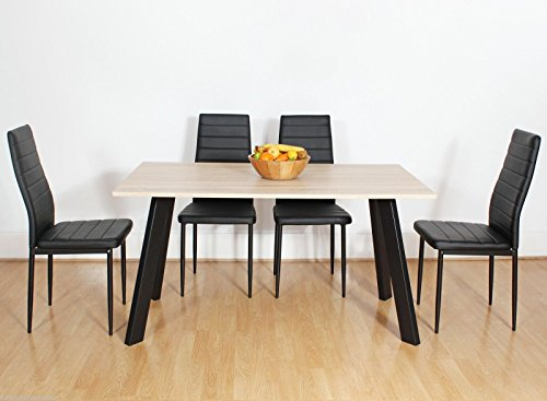 chester-oak-wooden-wood-dining-table-set-and-4-6-black-faux-leather-chairs-seats-6-chairs