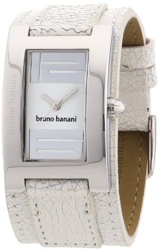 bruno banani - BR20954 - Montre Femme - Quartz - Analogique - Bracelet cuir Blanc