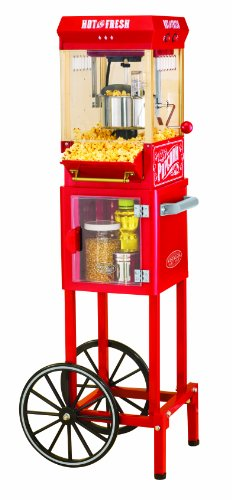 Nostalgia Electrics Kpm200Cart 48-Inch Vintage Collection Popcorn Cart