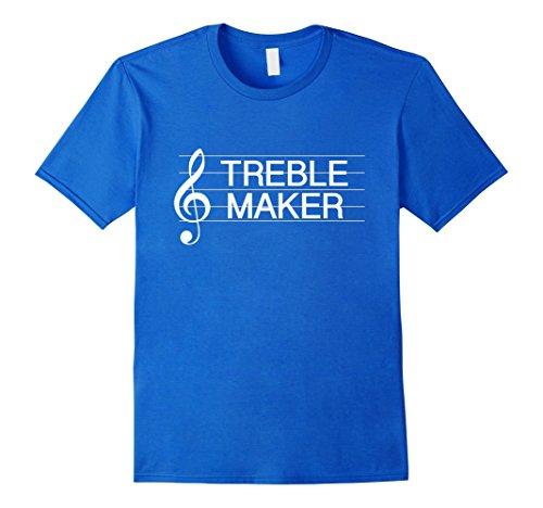 Men's Treble Maker Clef Funny Music Pun T-Shirt Small Royal Blue (Treble Maker compare prices)