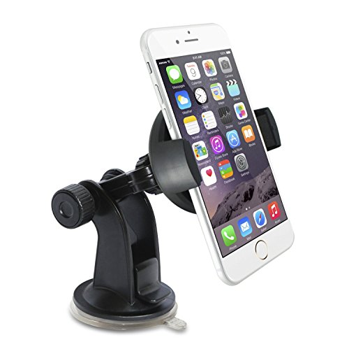 Pamalo Easy Installable Car Phone Mount, Good for iPhone 6/5s/5c/4s/4, Samsung Galaxy S5/S4, Amazon Fire Phone, HTC One: Windshield Dashboard Car Mount Holder, Great Cell Phone Cradle (Samsung S4 Car Windshield Mount compare prices)
